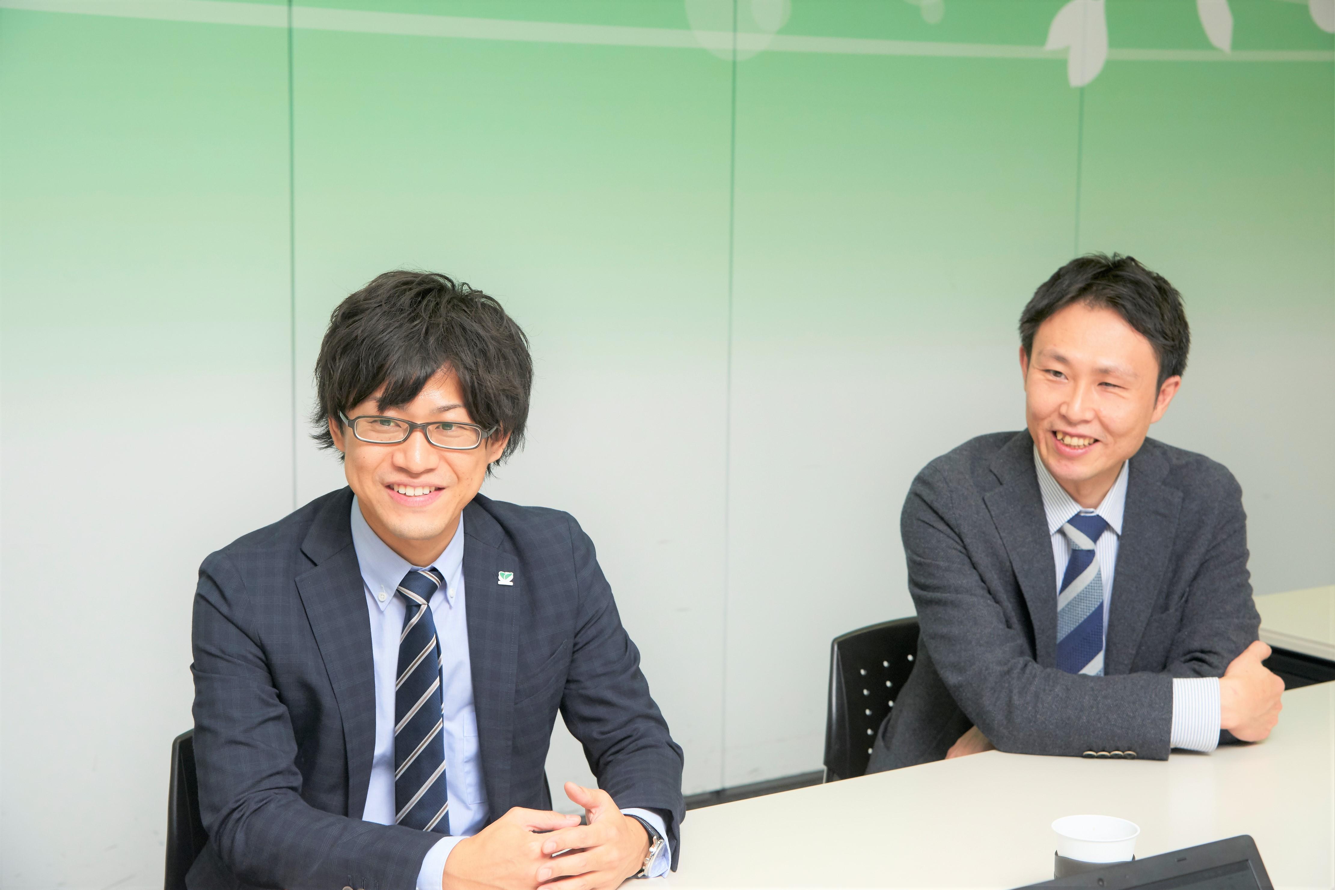 株式会社ブロードリーフ  加川氏(左) 小川氏(右)